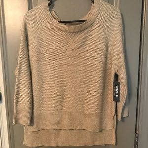 Allen B shimmer sweater NWT / size large